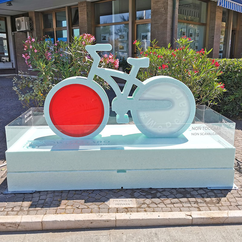 bicicletta polistirolo We Pesaro